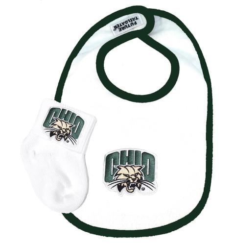 Ohio Bobcats Baby Bib and Socks Set