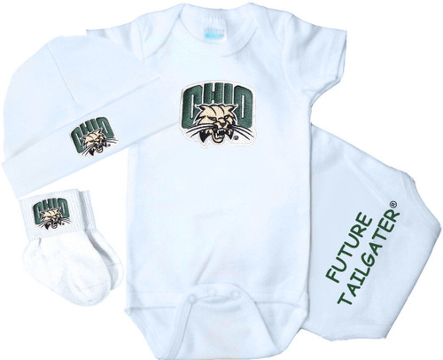 Ohio Bobcats Homecoming 3 Piece Baby Gift Set