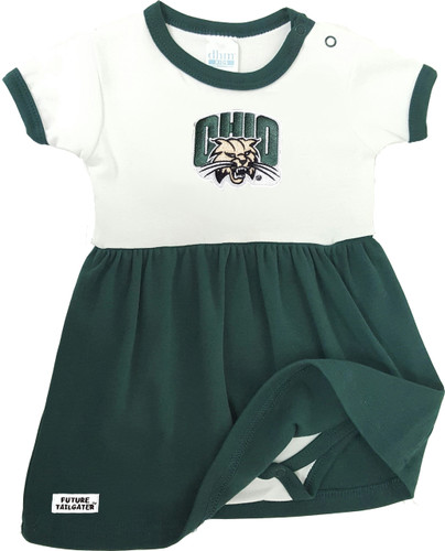 Ohio Bobcats Baby Onesie Dress