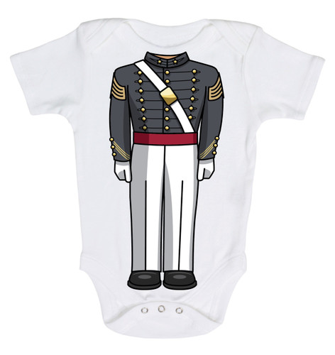 Army Soldier Heads Up! Baby Onesie