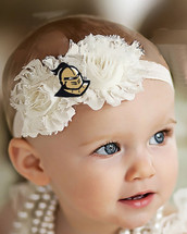 UCF Knights Baby/ Toddler Shabby Flower Hair Bow Headband