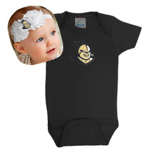UCF Knights Baby Onesie and Shabby Flower Headband Set