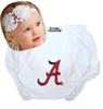 Alabama Crimson Tide Baby Eyelet Diaper Cover and Shabby Bow Headband