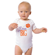 Clemson Tigers Dream Big Baby Onesie