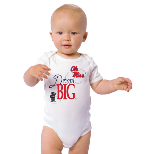 Mississippi Ole Miss Rebels Dream Big Baby Onesie