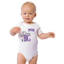 Texas Christian TCU Horned Frogs Dream Big Baby Onesie