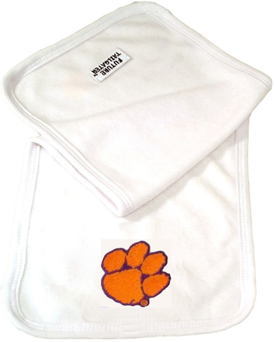 Clemson Tigers Baby Terry Burp Cloth