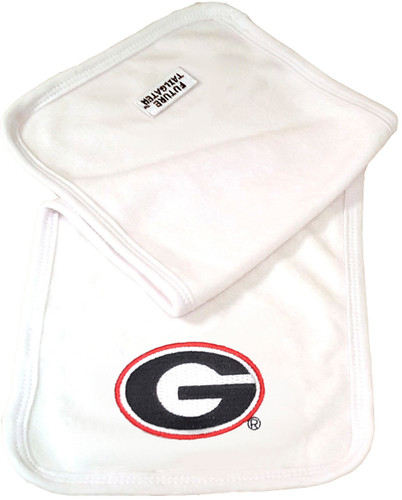 Georgia Bulldogs Baby Terry Burp Cloth