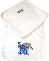 Memphis Tigers Baby Terry Burp Cloth