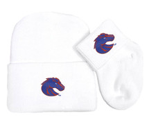 Boise State Broncos Newborn Baby Knit Cap and Socks Set