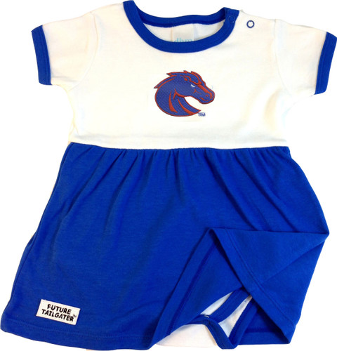 Boise State Broncos Onesie Baby Dress