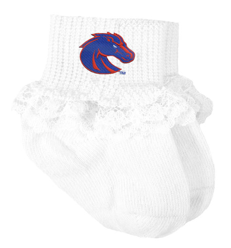 Boise State Broncos Baby Laced Sock Booties