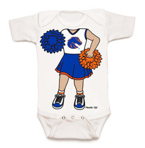 Boise State Broncos Heads Up! Cheerleader Baby Onesie