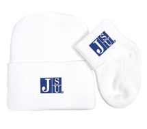Jackson State Tigers Newborn Baby Knit Cap and Socks Set