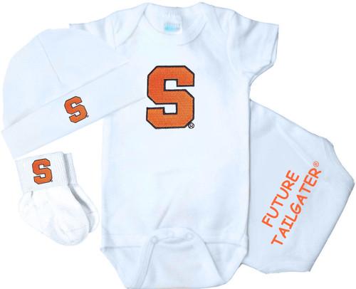 Syracuse Orange Homecoming 3 Piece Baby Gift Set