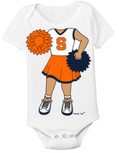 Syracuse Orange Heads Up! Cheerleader Baby Onesie
