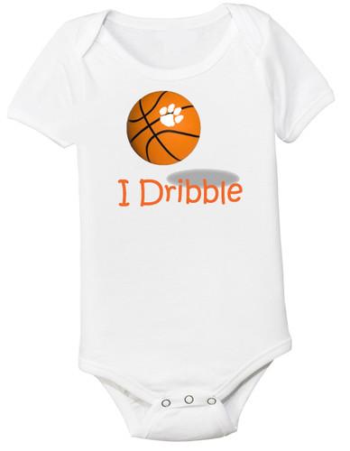 "Clemson Tigers Basketball ""I Dribble"" Baby Onesie"