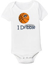 "Auburn Tigers Basketball ""I Dribble"" Baby Onesie"