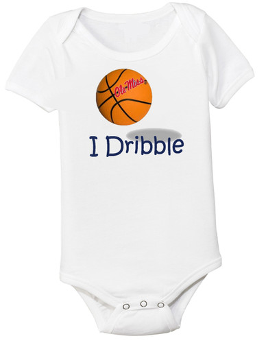 "Mississippi Ole Miss Rebels Basketball ""I Dribble"" Baby Onesie"