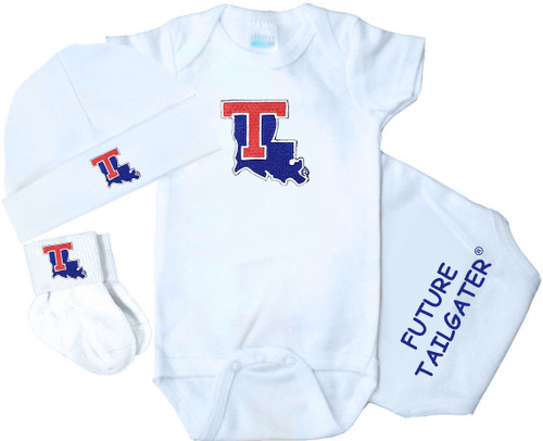 Louisiana Tech Homecoming 3 Piece Baby Gift Set