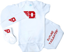 Dayton Flyers Homecoming 3 Piece Baby Gift Set