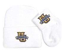 Marquette Golden Eagles Newborn Baby Knit Cap and Socks Set