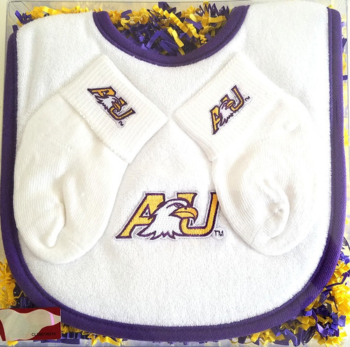 Ashland Eagles Bib and Socks Baby Gift Set