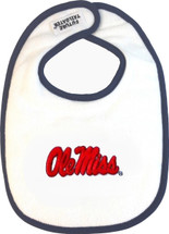 Mississippi Ole Miss Rebels 2 Ply Baby Bib