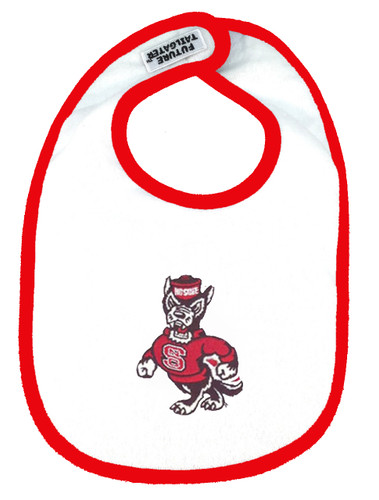 NC State Wolfpack 2 Ply Baby Bib