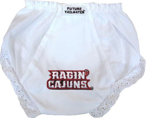 Louisiana Ragin Cajuns Eyelet Baby Diaper Cover