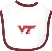 Virginia Tech Hokies 2 Ply Baby Bib
