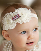 Louisiana Ragin Cajuns Baby/ Toddler Shabby Flower Hair Bow Headband