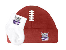 Weber State Wildcats Football Cap and Socks  Baby Gift Set