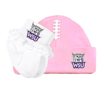 Weber State Wildcats Football Cap and Socks with Lace Baby Gift Set