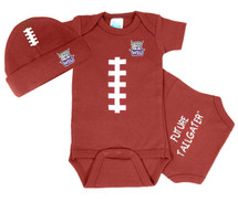 Weber State Wildcats Touchdown Football Bodysuit and Cap Baby Set