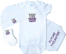 Weber State Wildcats Homecoming 3 Piece Baby Gift Set