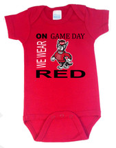 NC State Wolfpack On Gameday Baby Onesie