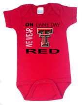 Texas Tech Red Raiders On Gameday Baby Onesie