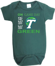 Tulane Green Wave On Gameday Baby Onesie