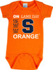 Syracuse Orange On Gameday Baby Onesie