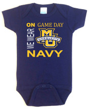 Marquette Golden Eagles On Gameday Baby Onesie