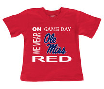 Mississippi Ole Miss Rebels On Gameday Infant/Toddler T-Shirt