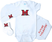 Miami RedHawks Homecoming 3 Piece Baby Gift Set