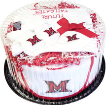 Miami RedHawks Baby Fan Cake Clothing Gift Set