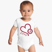 Alabama Crimson Tide Love Baby Bodysuit