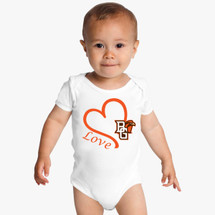 Bowling Green St. Falcons Love Baby Onesie