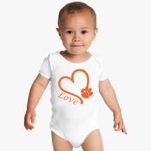 Clemson Tigers Love Baby Onesie