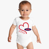 Mississippi Ole Miss Rebels Love Baby Onesie
