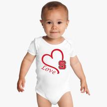 NC State Wolfpack Love Baby Onesie