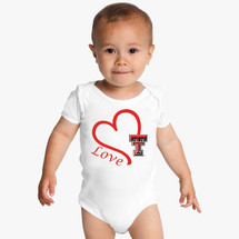 Texas Tech Red Raiders Love Baby Onesie